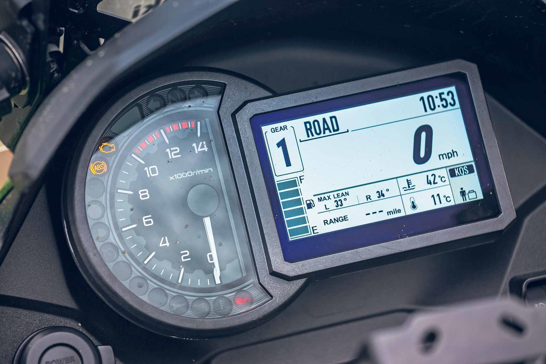 Kawasaki Versys 1000 SE clocks